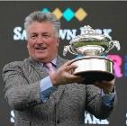 Paul Nicholls with trainers trophy 02